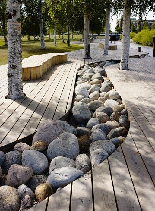 Strömkajen - unik parkmiljö i Piteå