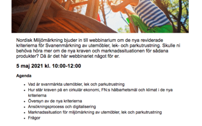 Tips om Svanens Webbinarium
