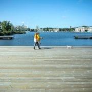 Lugnets terass i Hammarby Sjöstad - pärla i grön stadsmiljö